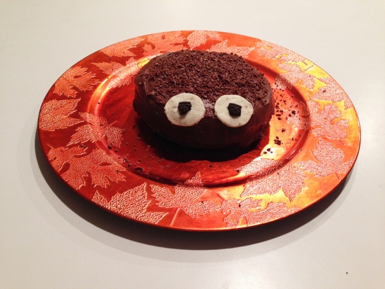 Chocolate Spider Cake - Oreo Eyes