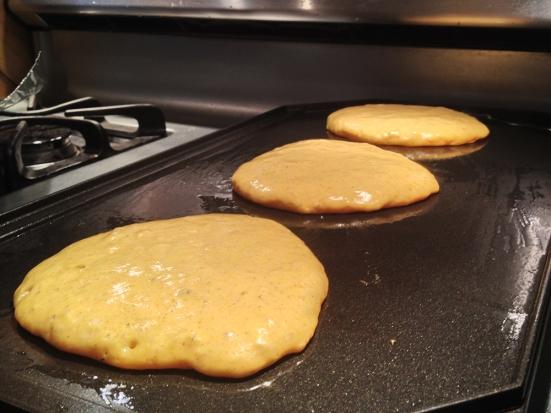 Cooking Buttermilk Pancakes