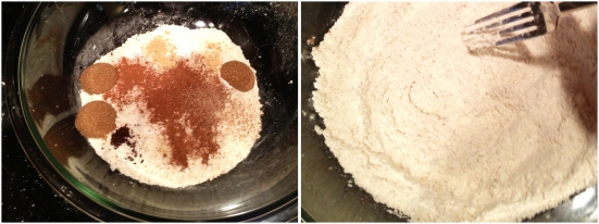 Mixing Buttermilk Pancake Dry Ingredients