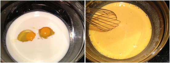 Mixing Buttermilk Pancake Wet Ingredients