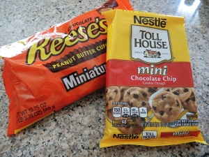 Peanut Butter Cups and Toll House Cookies