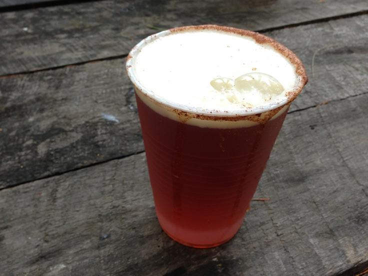 Pumpkin Beer with Cinammon and Sugar Rim at King Richard's Faire