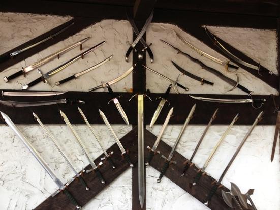 Swords at King Richard's Faire Blacksmith Shop