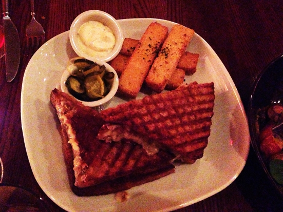 Farmstead - Grilled Cheese with Polenta Fries