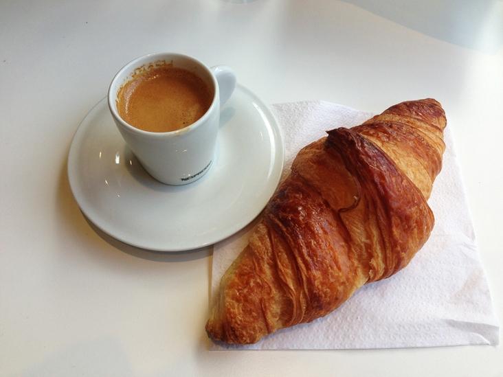 Espresso and Croissant