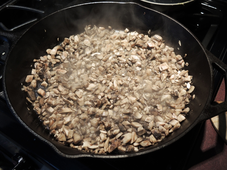 Man Fuel - Sauteed Mushrooms for Stuffing Pork Chops