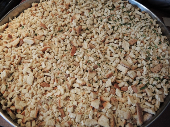 Man Fuel's Mushroom Stuffed Pork Chops Baked in Stuffing - Pre-Baked
