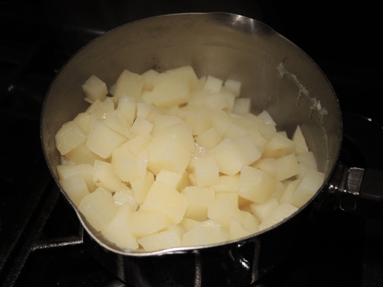 Potato Chunks for Potato Leek Soup by Man Fuel