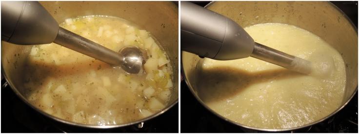 Pureeing Potato Leek Soup for Man Fuel Recipe