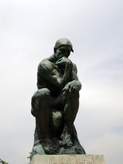 The Thinker from the Front