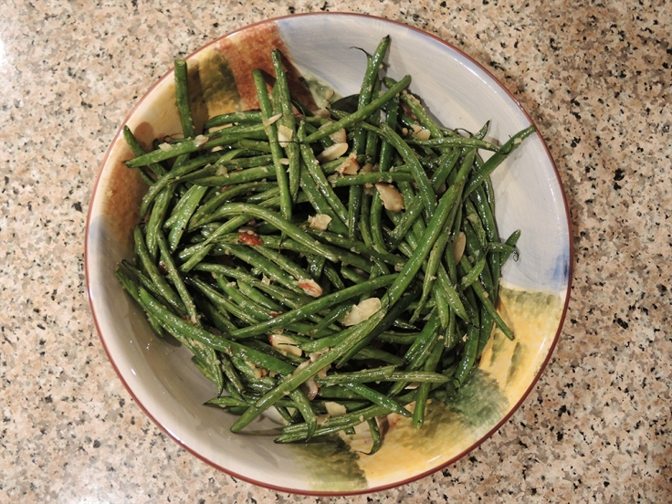 Man Fuel Food Blog - Roasted Green Beans with Almonds and Garlic
