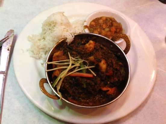 Rasoi - Shrimp Saag - Pawtucket, RI - www.manfuelblog.com