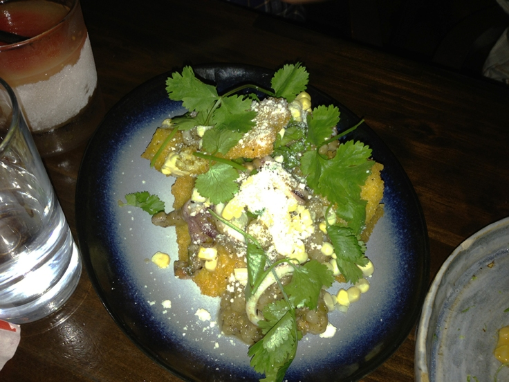Man Fuel Food Blog - North - Charred Squid and Grits - Providence, RI