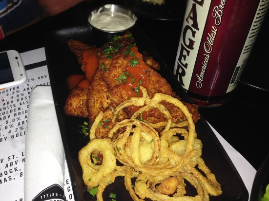 Man Fuel Food Blog - Warehouse Bar and Grill - Boston, MA - Buffalo Chicken Tenders
