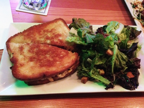 Man Fuel - a food blog - Chomp - Warren, RI - Smoked Beef Sandwich and Salad