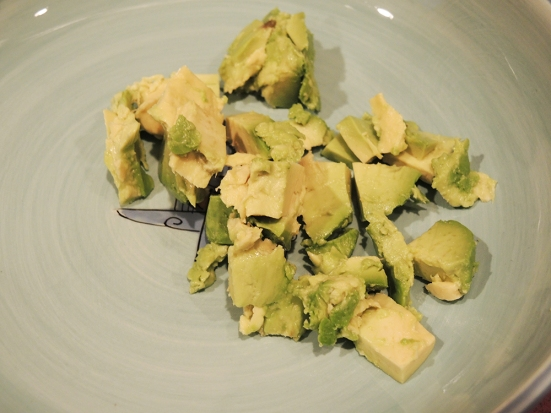 Man Fuel Food Blog - Guacamole - Cubed Avocado
