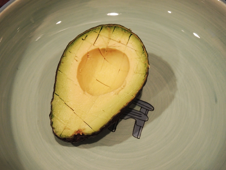 Man Fuel Food Blog - Guacamole - Scored Avocado