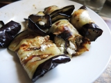 Grilled Eggplant and Feta Cheese Rollups
