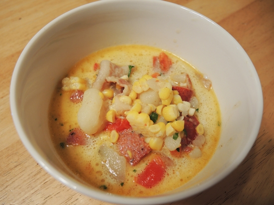 Man Fuel - Food Blog - Kayem Artisan Andouille Sausage in Chowder