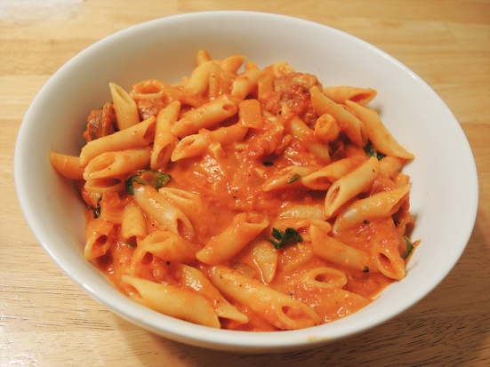 Man Fuel - Food Blog - Kayem Sweet Sausage in Pasta with Sauce