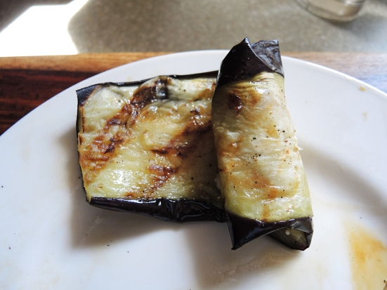 Man Fuel - Food Blog - Rolling Stuffed Grilled Eggplant