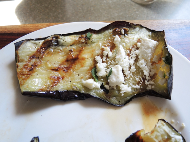 Man Fuel - Food Blog - Rolling Up Stuffed Grilled Eggplant