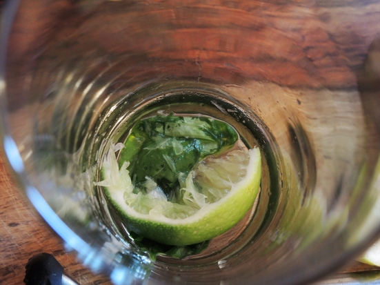 Man Fuel - Food Blog - Tequila Summer Shandy - Muddled Lime and Basil
