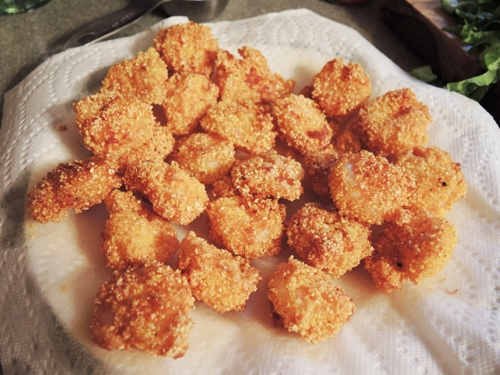 Man Fuel - a food blog - Cornmeal Breaded Shrimp