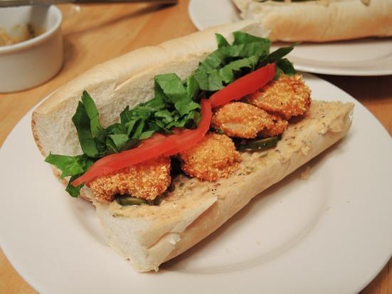 Man Fuel - a food blog - Homemade Shrimp Po Boy Sandwich