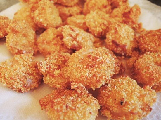 Man Fuel - a food blog - Shrimp Breaded in Cornmeal