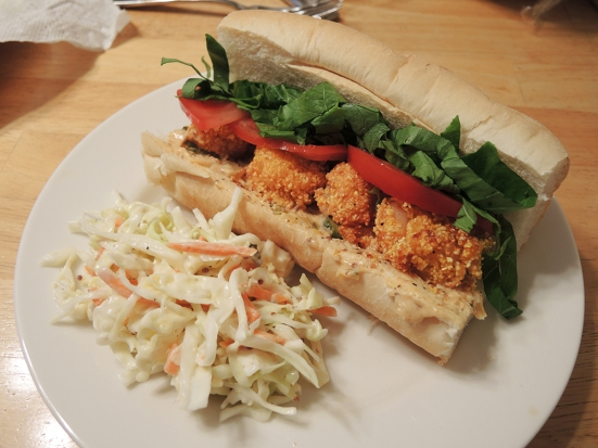 Man Fuel - a food blog - Shrimp Po Boy Sandwich with Spicy Remoulade Sauce