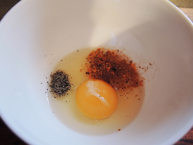 Man Fuel - a food blog - Spices in Egg Wash