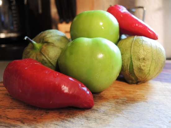 Man Fuel - food blog - Tomatillo Salsa Ingredients