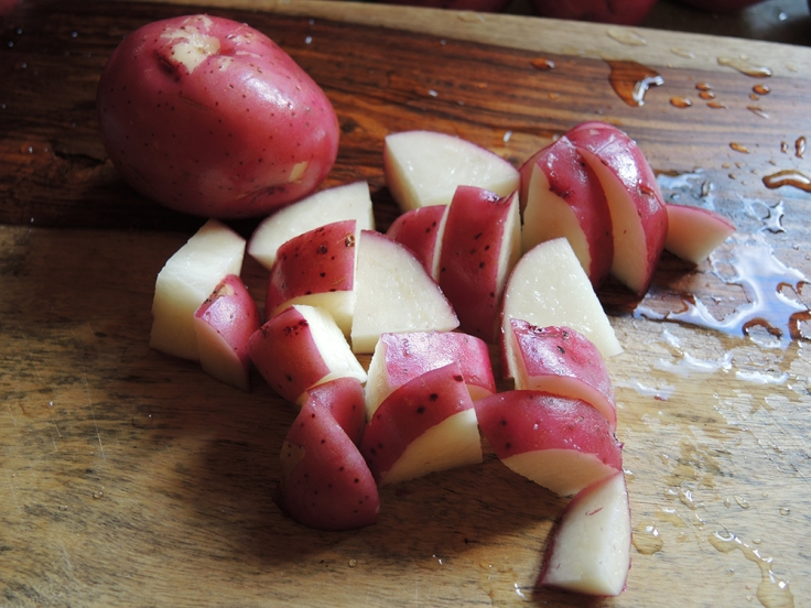 Man Fuel - a food blog - Cubed Red Potatoes