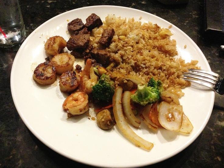 Man Fuel - a food blog - Ichigo Ichie - East Providence, RI - Hibachi Scallop and Steak