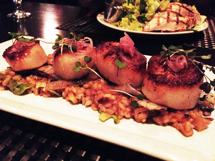 Man Fuel - a food blog - Kitchen Bar - Providence, RI - Scallops Over Risotto