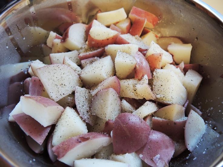 Man Fuel - a food blog - Seasoning Red Potatoes for Potato Salad