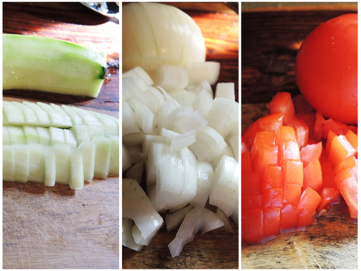 Man Fuel - food blog - Chopped Vegetables for Summer Salad