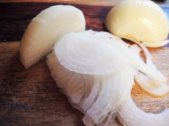 Man Fuel - food blog - Thinly Sliced Onion