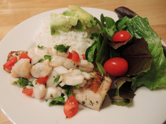 Man Fuel - food blog - Ceviche Over Grilled Mahi Mahi