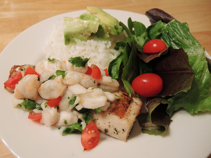 Man Fuel - food blog - Ceviche Over Grilled Mahi Mahi