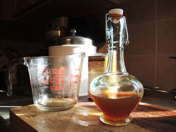 Man Fuel - food blog - Pumpkin Spice Simple Syrup Filtered
