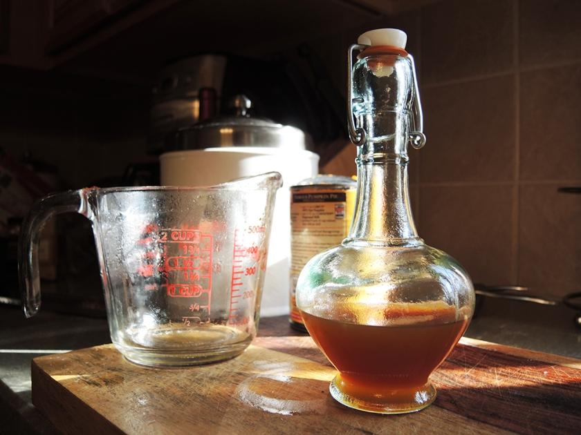 Man Fuel - food blog - Pumpkin Spice Simple Syrup Filtered