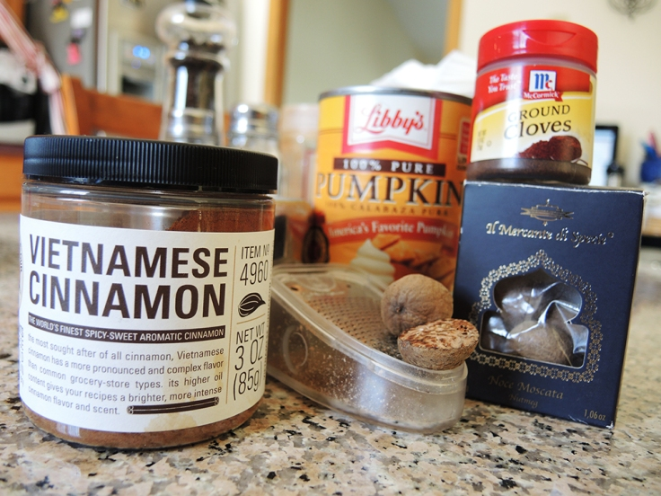 Man Fuel - food blog - Pumpkin Spice Simple Syrup Ingredients