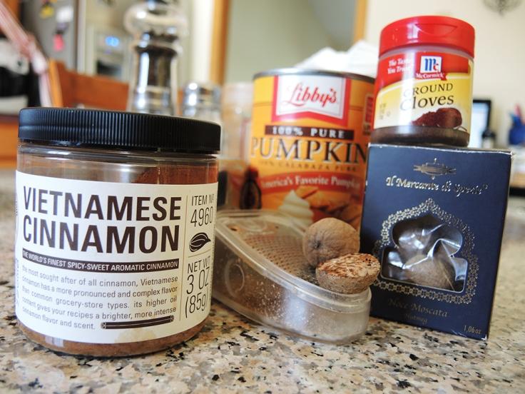 Man Fuel - food blog - Pumpkin Spice Simple Syrup Ingredients