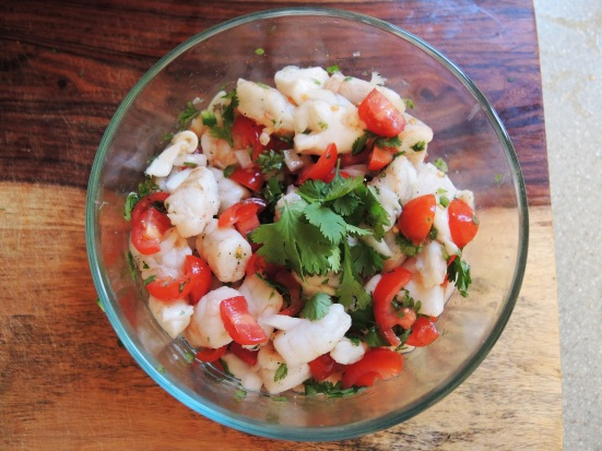 Man Fuel - food blog - Shrimp and Scallop Ceviche with Fresh Vegetables