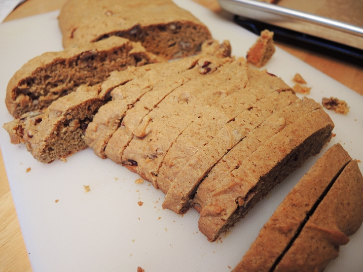 Man Fuel - Food Blog - Pumpkin Biscotti - Sliced and Untoasted