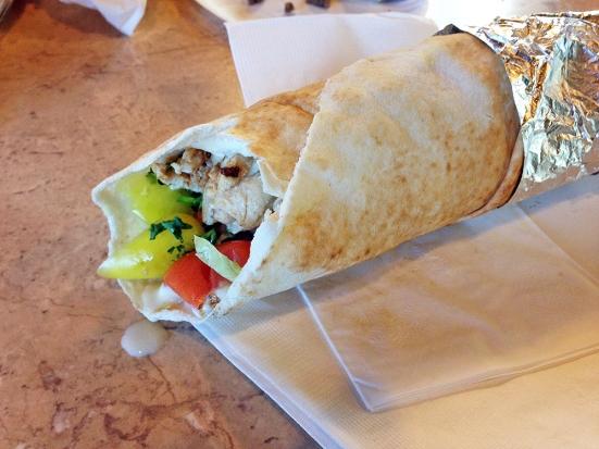 Man Fuel - Food Blog - Joe's Shish Kabob - Fall River, MA - Chicken Kebab Wrapjpg