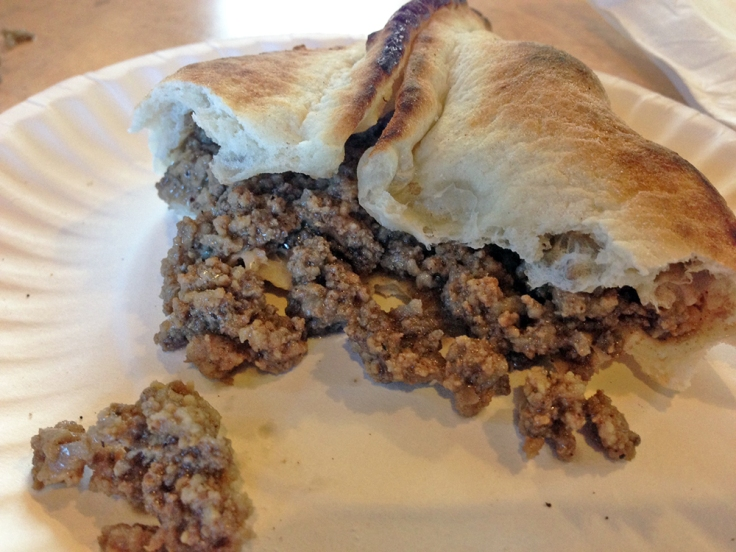 Man Fuel - Food Blog - Joe's Shish Kabob - Fall River, MA - Meat Pie Inside