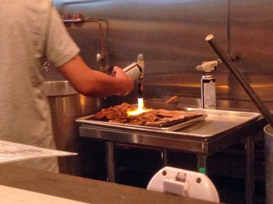 Man Fuel - Food Blog - Ken's Ramen - Providence, RI - Searing Pork